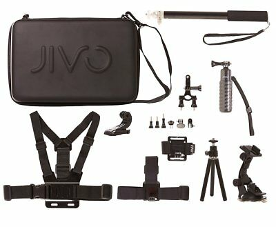 Jivo Go Gear 11-in-1 Accessory Kit For GoPro ® & amp Action Cameras