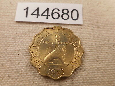 1953 Paraguay 25 Centimos - Very Nice Collector Grade Album Coin - # 144680