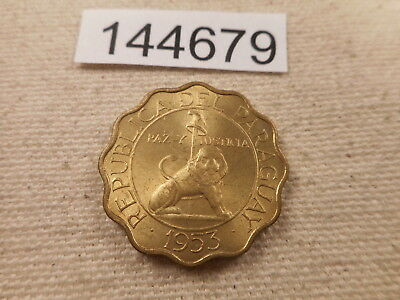 1953 Paraguay 50 Centimos - Very Nice Collector Grade Album Coin - # 144679