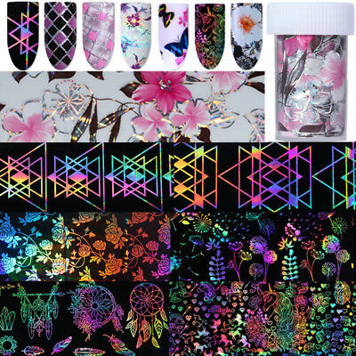 Dreamcatcher Holographic Nail Foils Rose Geometry Transfer Sticker Decoration
