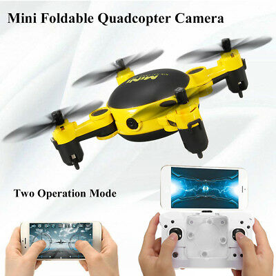 Foldable Two-way Mini RC Quadcopter GPS 3D Hover FPV Camera Drone Action WIFI