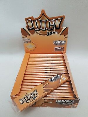 Liquorice King Size Slim Papers RIZLA JUICY JAY'S Rolling Smoking Cigarette
