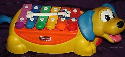 2002  Xylophone fisher price musical toy pull along educational toy dog