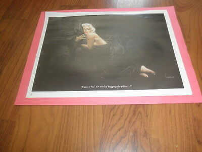 "Vintage MOEBIUS GIRL PIN-UP-""MARILYN MONROE""Original Magazine Print"