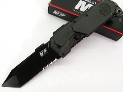 Smith & Wesson S&W Assisted M&P Serrated Tanto Glassbreaker Knife SWMP9BTS