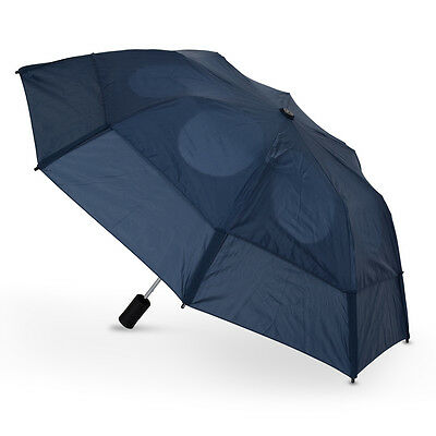 GustBuster Metro Auto Vented Folding Umbrella - Navy Blue