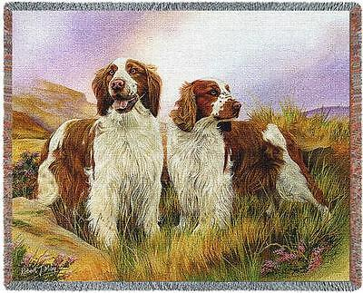 Throw Tapestry Afghan - Welsh Springer Spaniel Pair by Robert May 3298