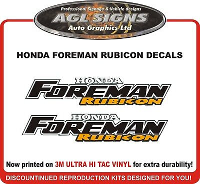 Honda Foreman Rubicon Reproduction Decal Set