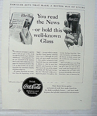 "1940,nov. Fortune Mag. ""you Read The News"" Hand With Newspaper & Hand With Glass"