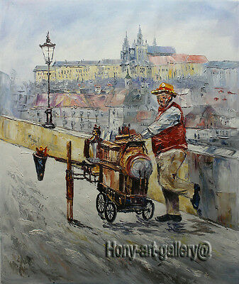 Original Modern Abstract Oil Painting Handmade knife Prague wall Art Canvas pz08