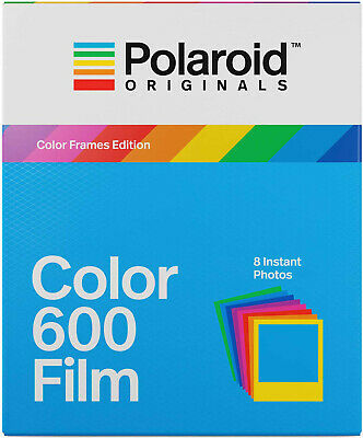 Polaroid Color Instant Film w/Color Frame For 600-Type Cameras