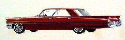1963 Cadillac Automobile ORIGINAL Detroit Styling Art Painting md163