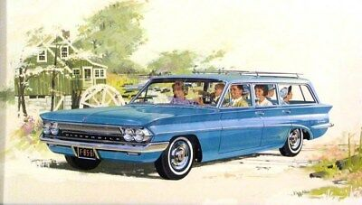 1961 Oldsmobile F85 Station Wagon Automobile ORIGINAL Styling Art Painting md282