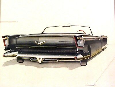 c. 1954 Cadillac Concept Automobile Detroit Styling Art Painting Willinsky md293