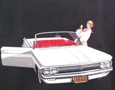 1962 Oldsmobile 85 Convertible Automobile Detroit Advertising Art Painting md300