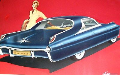 1951 Packard Stratocoupe Automobile Detroit Styling Art Painting Arbib md696