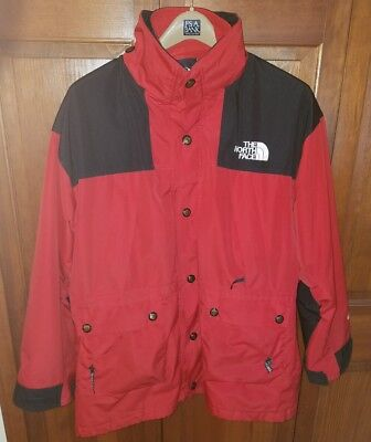 4d7d16049dd VINTAGE THE NORTH Face Mountain Guide Jacket Mens Large Red Black Gore-Tex