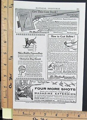 1905 MARLIN lever action hunting rifles & catalog Vintage Magazine Print Ad 9230