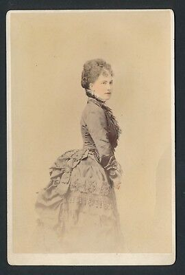 1880's NEW YORK HIGH SCOIETY Hand Colored Vintage VICTORIAN Cabinet Photo