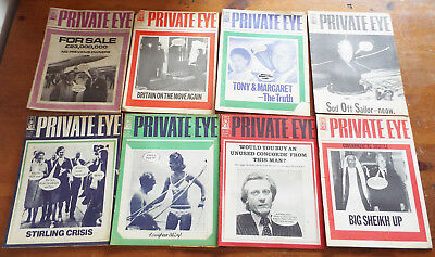 Private Eye Collection 16 Vintage Magazines mainly early 70s - job lot