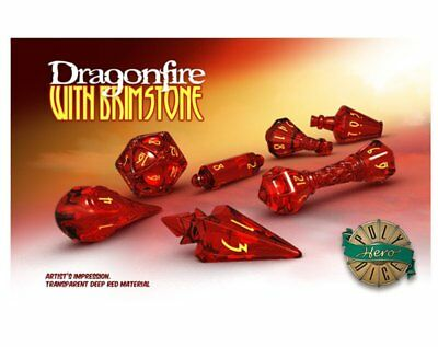Dice Polyhero Wizard Set - Dragonfire With Brimstone HPS GSUA2104