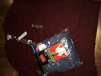 Men's size small lot sweater JC Penney brand and Hanes t shirts 3 pack NWT
