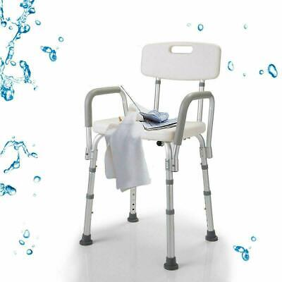 Heavy Duty Medical Shower Chair Elderly Bathroom Aid Stool Mobility Aid Seat