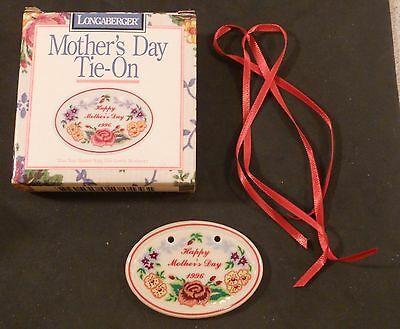LONGABERGER Basket 1996 Mother's Day  Tie-On NEW 32328