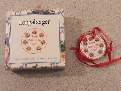 Longaberger Happy Mother's Day 1998 Tie On New  34002