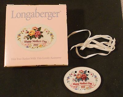 1999 Longaberger Happy Mothers Day Tie On 36251