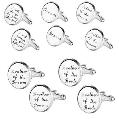 A Pair Of Silver Engraved Cuff Links Wedding Cufflinks Mens Oval Personalised