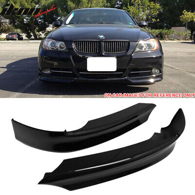 BLACK CLEARCOAT PAINTED 05-08 BMW 3-SERIES E90 OE TYPE FRONT SPLITTER PAIR