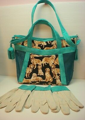 Handmade Obedience Article Bag Golden Retriever-Made in USA **CC**  w/ DR Gloves