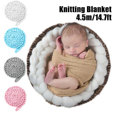 Newborn Baby Photo Posing Photography Props Knitting Wool Blankets Rug Stuffer