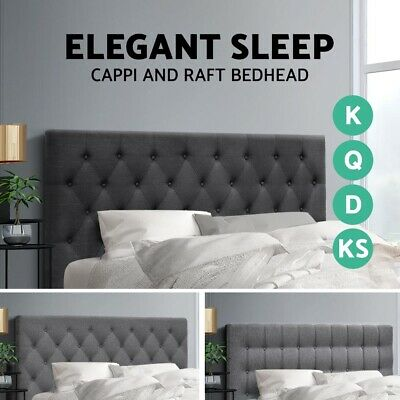 Artiss Bed Frame Double Queen King Size Bed Head Headboard Bedhead Base Fabric
