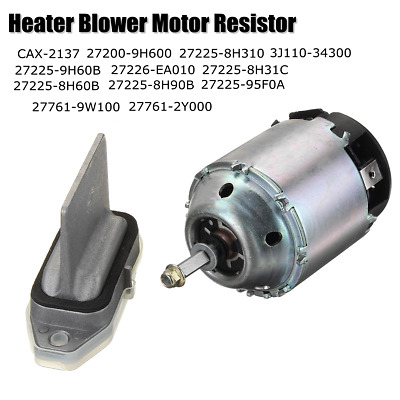 For NISSAN X-TRAIL T30 Heater Blower Motor 27225-8H31C & Resistor 27761-9W100