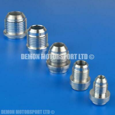 AN- Male Aluminium Weld On JIC Fitting (Pick Thread, Pack Size) Demon Motorsport