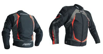 RST 2890 Blade II 2 CE Approved Textile Waterproof Motorcycle Jacket Grey/F.Red