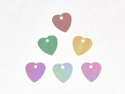 200g WHOLESALE CARD JEWELLERY MAKING CRAFT SEQUINS BEADS HEART 10mm AB COLOURS
