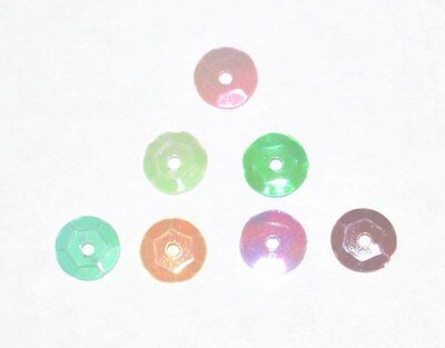 200g WHOLESALE CARD JEWELLERY MAKING CRAFT SEQUINS BEADS ROUND 10mm AB COLOURS