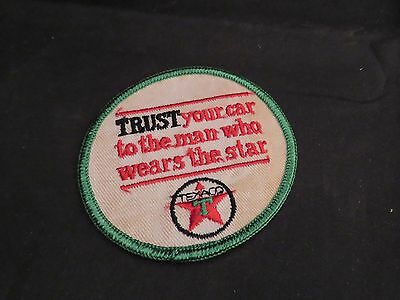 Vintage Texaco Service Station Employee Patch, Red Star, Green T