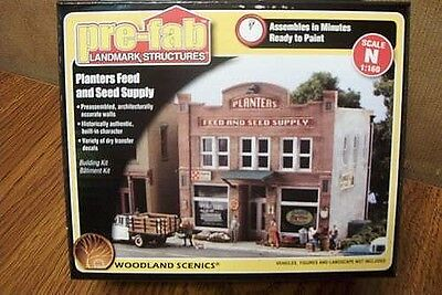 Woodland Scenics Planter's Feed & Seed Supply N Scale Building Kit