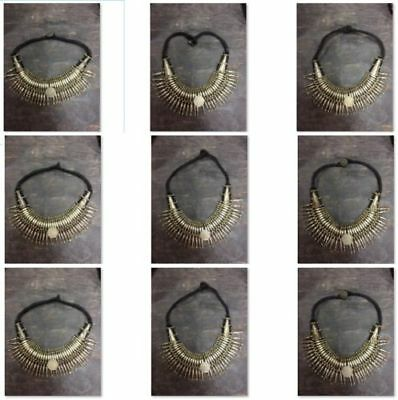 Wholesale-Antique-Vintage-Old-Tharu-Tribal-Alloy-Silver-Necklace-10-pcs-Nepal