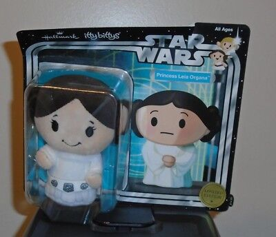 Hallmark Itty Bitty Bittys ~ PRINCESS LEIA ORGANA Ltd. Edit. Star Wars Plush NEW