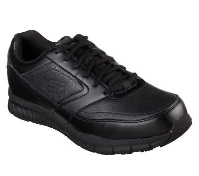77156 Black Skechers shoes Memory Foam Work Men's Comfort Slip Resistant EH Safe
