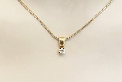 Beautiful Necklace Faceted Stone Anhänger Silber 925 Gold Plated Vintage