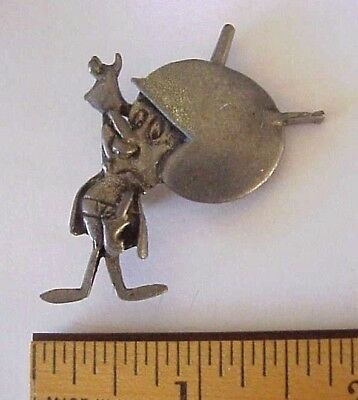 Flintstones Character THE GREAT GAZOO Pewter Tone Metal Lapel Pin