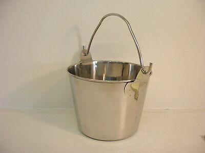 STAINLESS STEEL 1 Qt Pail/Bucket - NEW! - Kennel-Feed-Seed-Milk-Water -