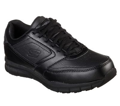 77235 Black Skechers shoes Women Work Memory Foam Comfort Slip Resistant EH Safe