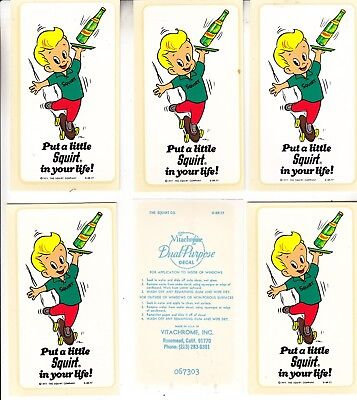 Squirt Boy Decal 1977 Mint Nos 12 Pieces